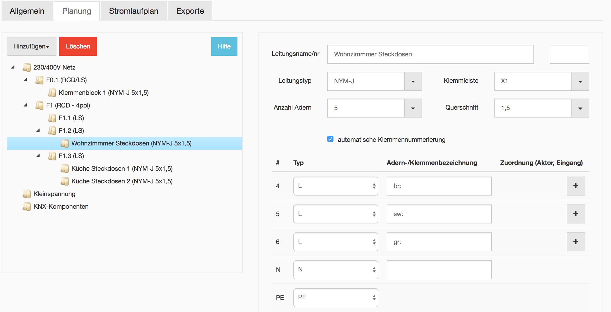 stromlaufplan.de – professionelle Pläne – automatisch generiert